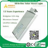 Indicatore luminoso di via solare di alluminio durevole di prezzi di fabbrica LED con applicato nel SIC del Ce di IEC di iso dei 68 paesi
