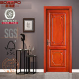 Porte en bois de chambre à coucher/en bois solide intérieure faite sur commande découpée par métier (GSP2-039)