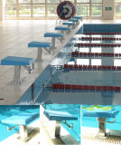 Bloco começar olímpico da associação para a piscina