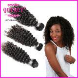Pente normale péruvienne des cheveux humains 8A de cheveu d'onde d'eau de cheveu d'armure en gros d'usine (WW-066b)