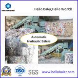 Hydraulische horizontale Altpapier-Ballenpresse mit Förderanlage