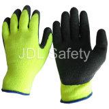 Guanto del lavoro del lattice del Sandy con alta visibilità (LY2024)