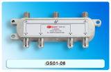 Diviseur 6-Way de Sat/CATV avec la conformité de la CE