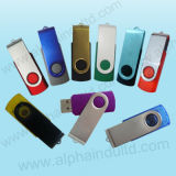 USB caliente giratoria promocionales personalizados Flash Drives con su logotipo
