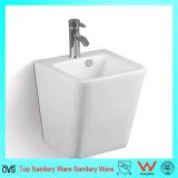 Le mur de piédestal de qualité a arrêté le lavage en céramique Basin&#160 de salle de bains ;
