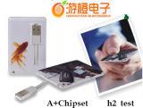 Movimentação personalizada do flash do USB do cartão de crédito (OM-P501)