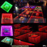 Efecto los 0.5*0.5m DMX 3D LED Dance Floor del abismo del espejo del partido del disco