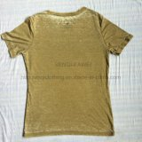 Vêtements de lavage de grillage d'été dans le T-shirt Fw-8679 de tricots de sport de l'homme