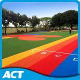 Grama artificial Recyclable para a superfície do coxim do jardim de infância