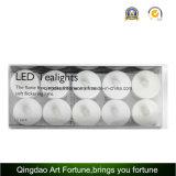 Vela blanca caliente con pilas de la luz del té del LED para la decoración del festival