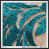 Вышивка сетки Nylon вышивки полиэфира вышивки сетки классическая для платья
