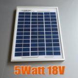panneau solaire 12V poly 5W pour le système de d'éclairage solaire