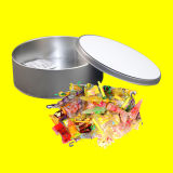 Hojalata caramelo contenedor caja con sublimación en blanco
