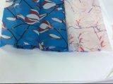 マグノリアの花の方法衣服のためのデザインによって印刷されるオーガンザファブリック