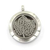 Locket hueco magnético del collar del difusor de la hebra redonda de la joyería