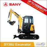 Sany Sy35の新しい油圧小型クローラー掘削機中国製