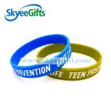 Bracelete colorido côncavo do silicone da venda quente