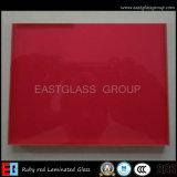 Rouge rubis en verre feuilleté (de EGLG019)