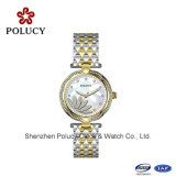 Het unisex- Horloge van het Kwarts van de Steen van het Roestvrij staal Slanke met 3 Horloges van het Roestvrij staal van het Water van ATM Bestand