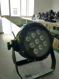 옥외 9PCS 4in1 건전지 무선 통제 DMX LED 동위 빛