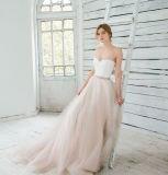 Без бретелек шифоновое линия платье венчания