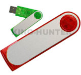 Palillos promocionales del mecanismo impulsor del flash del USB del eslabón giratorio con insignia de la impresión en color