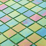 Baumaterial-Grün-bedeckt schillerndes Fußboden-Fliese-Badezimmer-Glas Mosaik