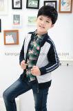 ジッパーのRaglan袖のウールの子供のカーディガンのセーターの在庫