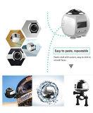16MP 4k (1080P/30fps) appareil-photo panoramique d'action de Vr de 360 degrés, lentille sphérique, 3D, imperméable à l'eau, WiFi, rejeu de vidéo d'écouteur de Vr de support