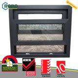 Энергосберегающее деревянное прокатанное окно UPVC пластичное двойное повиснутое стеклянное