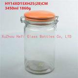 do armazenamento de vidro do selo do frasco do selo do alimento 2850ml recipiente de vidro