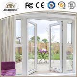 Puertas de cristal plásticas del marco de la fibra de vidrio barata UPVC/PVC del precio de la fábrica del bajo costo con los interiores de la parrilla para la venta