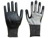 Handschoenen van het Werk van de Veiligheid van de besnoeiing de Bestand met Met een laag bedekt Nitril