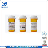 Escritura de la etiqueta adhesiva de encargo de la etiqueta engomada de la botella de la medicina
