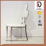 의자 결혼식 의자를 식사하는 직물 방석을%s 가진 짜개진 조각 스테인리스