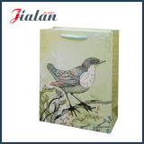 安い動物は卸売によって薄板にされたカスタムロゴによって印刷された紙袋を印刷した
