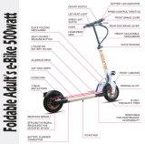 Баланса собственной личности мотора 2 колес самокат безщеточного складного миниого электрический