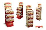Nuevo soporte de visualización de suelo de la cartulina del diseño para las galletas de la tienda al por menor