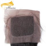 Fechamento baixo de seda do Frontal do laço da onda do corpo de Alimina