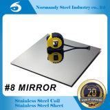 304 feuille d'acier inoxydable de fini du miroir du numéro 8 8K pour la décoration et la construction de vaisselle de cuisine