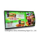 Rectángulo ligero comercial del LED que hace publicidad de la tarjeta del menú