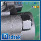 Кованая сталь Didtek A105 шариковый клапан 3 частей продетый нитку женщиной