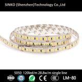Мощный гибкий свет веревочки СИД с 120LEDs/M 28.8W с одиночной линией или сдвоенной линия