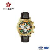 Mais novo relógio de esportes do Japão Relógios de couro Ganuine de couro