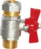 Resistenza alla valvola a temperatura elevata dell'ottone di taglio