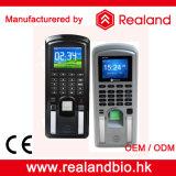 Realandの生物測定の指紋RFIDのカードのアクセス制御時間出席システム