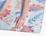 Estera de la yoga del diseño de la luna y de la estrella, estera lavable de la yoga con no la superficie del resbalón