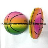 Baloncesto de goma del arco iris del material 3# para los deportes