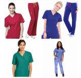 新式のメスの看護婦の均一デザイン/Nurseはスーツをごしごし洗う