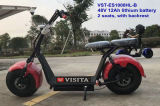 1000W 48V 12ahのリチウム電池の大人の電気スクーター